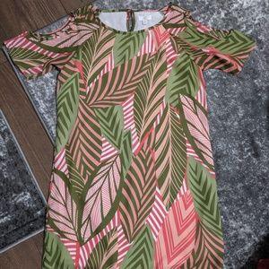 Tropical summer shift dress